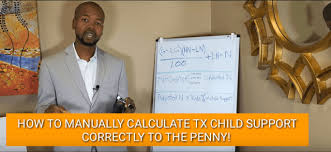 Manually Calculating Child Support In Texas Correctly To The