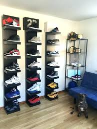 sneaker display case sneaker display case i revamped my sneaker room and my boy wanted to sneaker display case