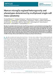 Human Microglia Regional Heterogeneity And Phenotypes