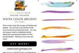 free watercolor brushes illustrator a huge compilation of 60 free illustrator brushes