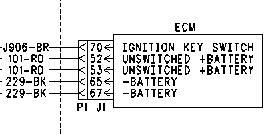 caterpillar 70 pin ecm wiring diagram caterpillar diagram showing ecm on the 70 pin connector on a c starting issue on caterpillar 70 pin