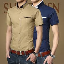 Image result for men short sleeve formal shirt
