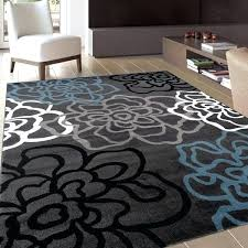 contemporary modern fl flowers area rug x 7 by 10 rugs