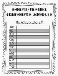parent conference template teaching with terhune parent teacher conferences