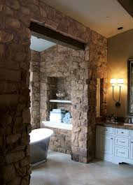 rustic stone bathroom designs. Rustic Stone Bathroom Ideas Walls Shelves White Vanity Cabinet Rustic Stone Bathroom Designs S