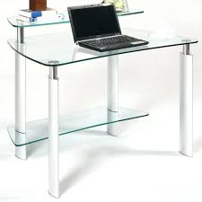 chrome and glass computer desk