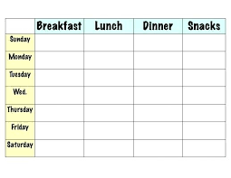 Excel Weekly Meal Planner Download Free Meal Planning Chart Printable Weekly Menu Planner Will