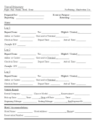 Itinerary Travel Template Travel Itinerary Template Mac Pages Apple Meetwithlisa Info