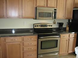 maple kitchen cabinets backsplash. Image Of Backsplash Ideas For Black Granite Countertops And Maple Cabinets Kitchen S