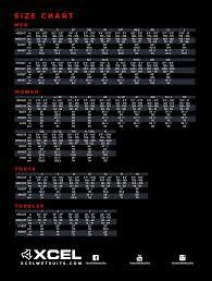 Sharkskin Wetsuit Size Chart Xcel Mens Axis 2 1mm Sharkskin Front Zip Wetsuit Top Fa19