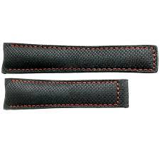 tag heuer grand carrera 22mm black carbon fiber leather strap fc6256 image 0
