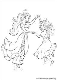 Princess Isabel And Elena Of Avalor Colouring Page Disney Princess