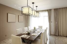 formal dining room curtains. Contemporary Formal Dining Room With Modern Elements, And Off-white Drapes Layered Over Sheer Curtains W