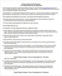 Word Research Paper Template Research Paper Template 9 Free Word Pdf Documents