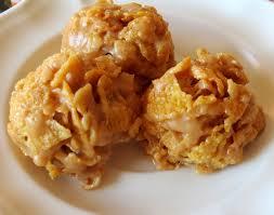 peanut butter balls with corn flakes. Nobake Peanut Butter Cornflake Cookie Recipe To Balls With Corn Flakes