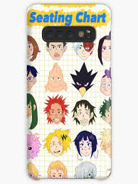 Galaxy Seating Chart Bnha Class 1 A Seating Chart Case Skin For Samsung Galaxy By Ko Komaeda
