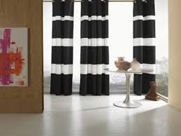 Beautiful Black And White Curtains Striped For Decorating Ideas