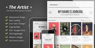 art portfolio template ecommerce art website templates wordpress the artist clean