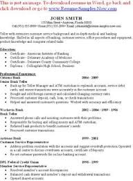 Sample Bank Teller Resume Entry Level - http://www.resumecareer.info