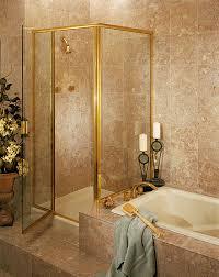 semi frameless corner shower door