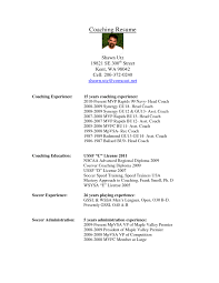 Amazing Soccer Coach Resume Samples Photos - Simple resume Office .