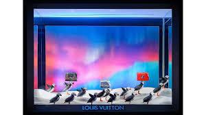 louis vuitton window display. windows onto a winter wonderland - louis vuitton fashion news window display w