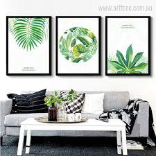 new watercolor green tropical leaves wall art set on leaf wall art set with green tropical leaves arttree