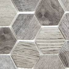 hexacycle charcoal grey hexagon mosaic recycled glass tile design from hexagon floor tile