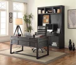home office set. hudson 3 piece home office set in vintage midnight finish by parker house hud3set