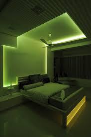 interior lighting designer. Master Bedroom With Green Neon Light Design By Architect Sonali Lighting India Interior Designer