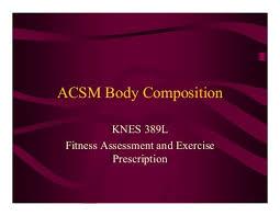 Acsm Waist Circumference Chart Acsm Body Composition