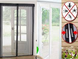 magic curtain door mesh magnetic hands free fly mosquito bug insect screen