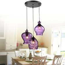 get ations modern stainde glass pendant light fixtures purple wine shade lamp bar restaurant living room decoration colored