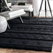 nuloom chunky knit rug black hand woven contemporary wool raised geometric nuloom 8x10 wool rug
