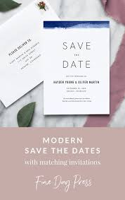 Blank Save The Date Cards Edge Dipped Modern Save The Date In 2018 Invitations Wedding