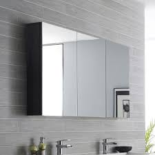 cabinet with glass shelves shave 1200mm black linewood soft closing mirror shaving
