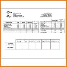 create paycheck stub template free 5 free check stub template receipt templates