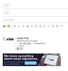 work email signatures xink integrates with office 365 help desk and knowledge base