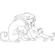 Disegno Di Mufasa E Simba Il Re Leone Da Colorare Per Bambini