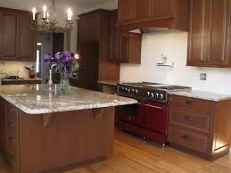 Oak Floors In Kitchen Cherry Cabinets And Oak Hardwood Floor Too Busy