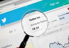 Twitter Stock Market Chart Montreal Canada March 3 2016 Twtr Twitter Stock Market