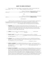Rent To Own House Contracts Printable Rent To Own Contract Xymetri 9