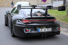 Why the new 2020 porsche 992 gt3 will be naturally aspirated again. Look At The Enormous Wing On This 992 Porsche 911 Gt3 Rs Prototype
