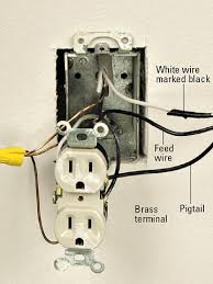 wiring receptacles in series wiring image wiring installing a switched receptacle how to install a new electrical on wiring receptacles in series