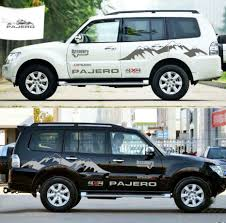 Pajero Sticker Design Details About Graphics Vinyl Snow Mountain Car Sticker Suv Hood Decal For Mitsubishi Pajero