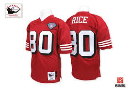 San 80 And Football Mitchell Throwback 1994 Jersey Francisco Rice 75th 49ers Patch Home - Men's Authentic Ness1470509 Jerry Red