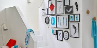 feather themed wall collage tesa
