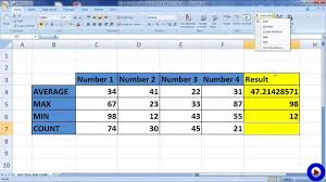 Excel Chart Showing Min Max Average Excel Formula Average Max Min Count