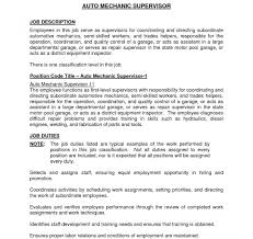 Supervisor Objective For Resume Supervisor Job Description For Resume Is One Of The Best Idea You 73