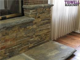 refacing a brick fireplace with stone veneer decorationfireplace